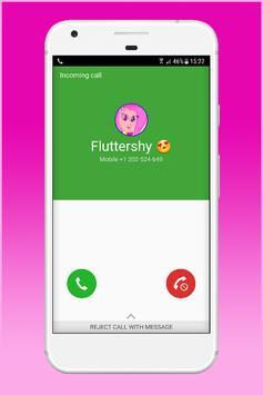 Fake Call From Fluttershy apk screenshot