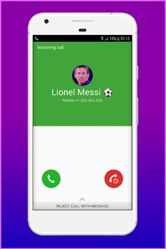 Call From Lionel Messi - Fake Call poster