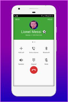 Call From Lionel Messi - Fake Call screenshot 23