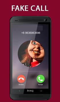 Fake Call From Chucky Killer Prank screenshot 1