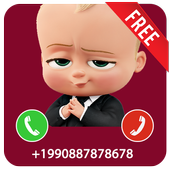 Fake Call From Baby Boss Prank 2017 icon