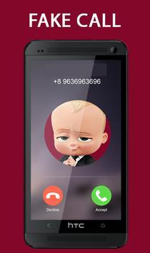 Fake Call From Baby Boss Prank 2017 screenshot 1