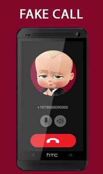 Fake Call From Baby Boss Prank 2017 screenshot 2