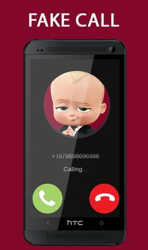 Fake Call From Baby Boss Prank 2017 screenshot 3