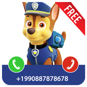 Fake Call Paw icon