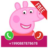 Fake Call From Pepa Pig Prank 2017 icon