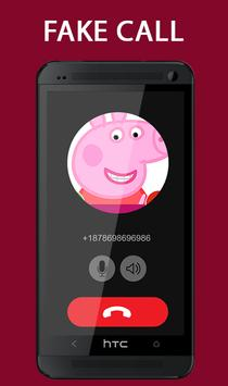 Fake Call From Pepa Pig Prank 2017 screenshot 3