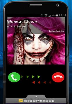 Call from Killer Woman Clown poster