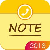 Note pad - write memo, keeplist, aftercall icon