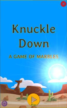 Knuckle Down A Game Of Marbles poster