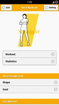Best Workout: Straight Body poster
