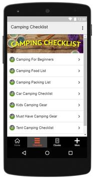 Camping Checklist poster