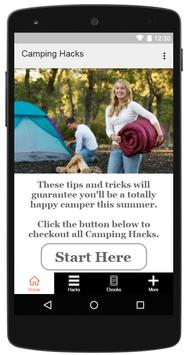 Camping Hacks Cartaz