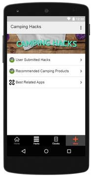 Camping Hacks apk screenshot