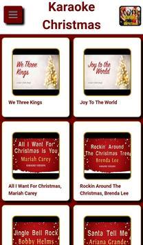 Christmas karaoke poster