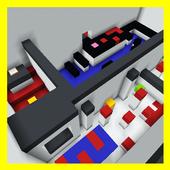 Concrete Parkour.  Map for Minecraft icon