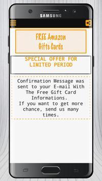 Free Amazon Gift Card Prank screenshot 7
