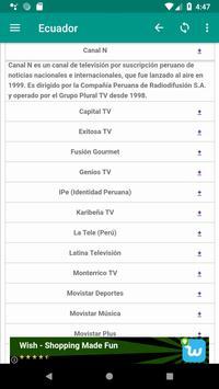 television channels peru screenshot 1