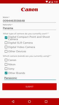 Canon Onsite Registration apk screenshot