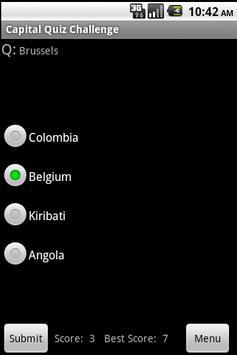 Country Capital Quiz Challenge apk screenshot