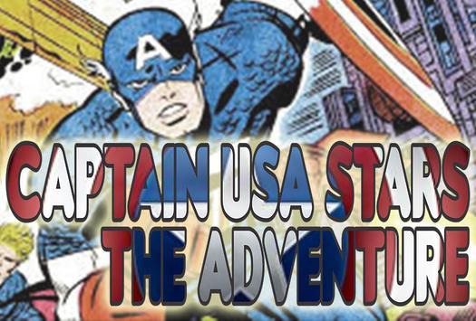 Captain USA Stars The Adventure poster