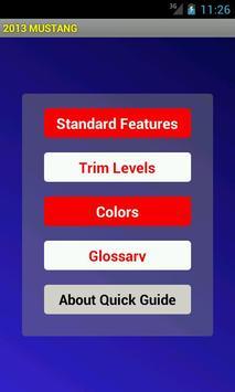 Quick Guide 2013 Ford Mustang screenshot 1