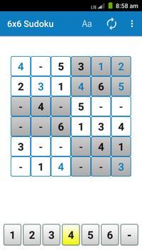 6x6 Sudoku screenshot 1