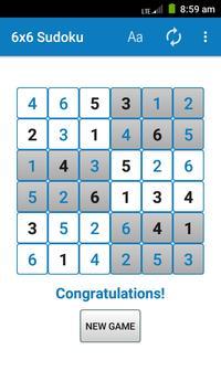 6x6 Sudoku screenshot 2