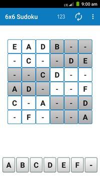 6x6 Sudoku screenshot 3