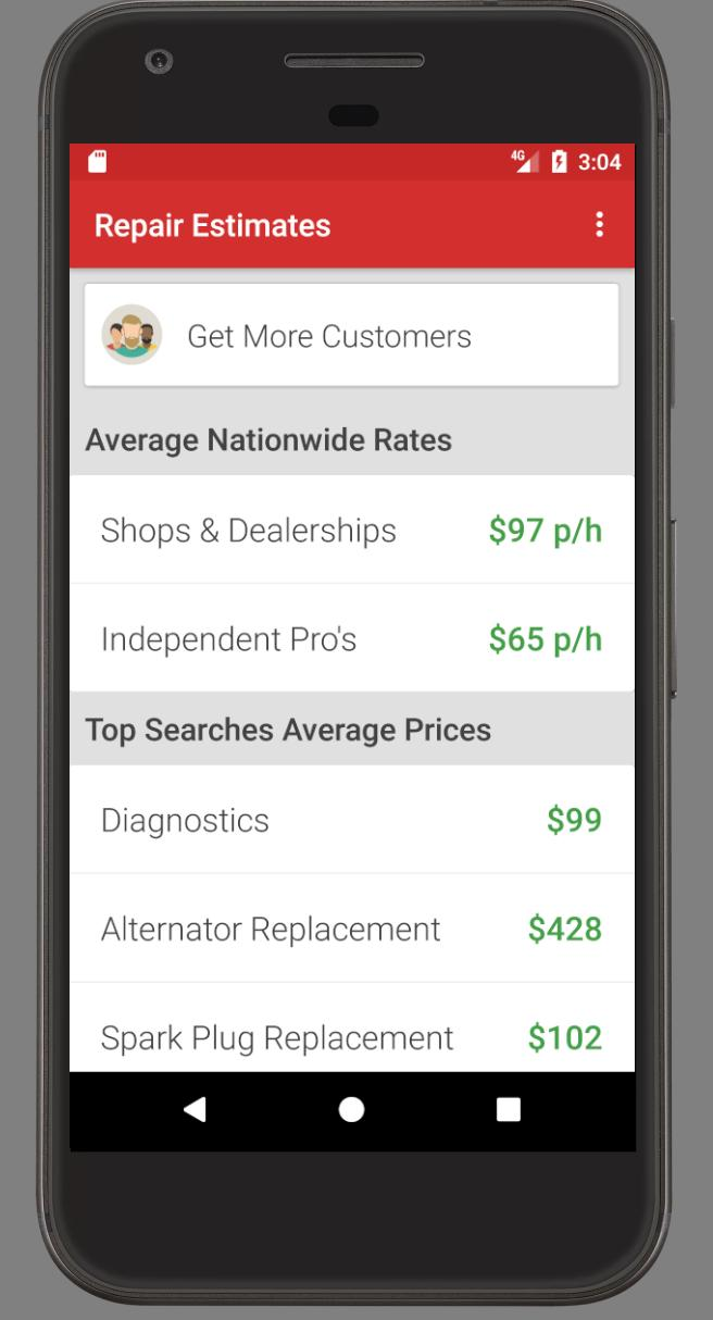 Auto Repair Estimates >> Auto Repair Cost For Chevrolet For Android Apk Download