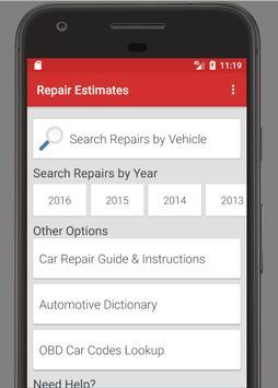 Auto Repair Estimates >> Auto Repair Labor Estimates Car Guide For Android Apk Download