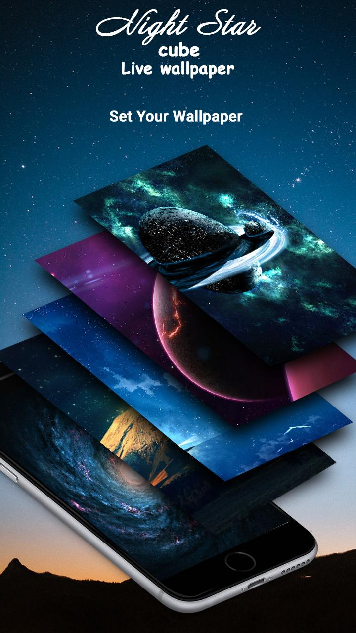 3d Night Star Cube Live Wallpaper For Android Apk Download