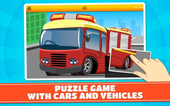 Cars and Vehicles Kids Puzzles screenshot 5