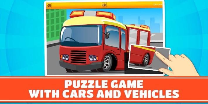 Cars and Vehicles Kids Puzzles poster