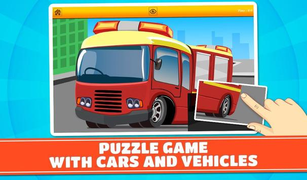 Cars and Vehicles Kids Puzzles screenshot 10
