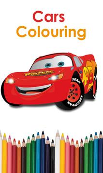 Cars Colouring poster