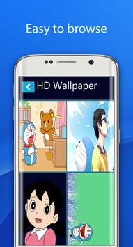 Blue cat doraepic cartoon wallpaper HD apk screenshot