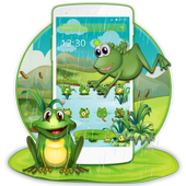 Cartoon Green Frog icon