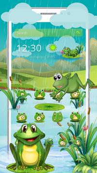 Cartoon Green Frog poster