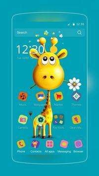 Happy Giraffe Theme apk screenshot