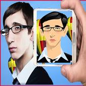Cartoon photo editor icon