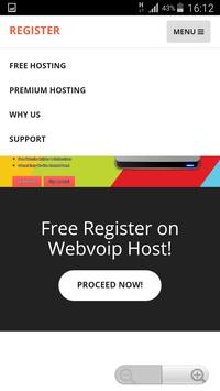 Webvoip Hosting apk screenshot