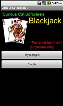 Curious Cat Blackjack apk screenshot