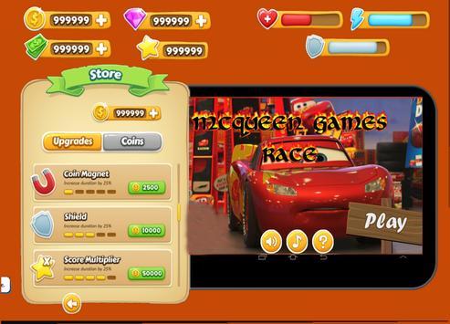 Speedy Mc-queen adventure apk screenshot