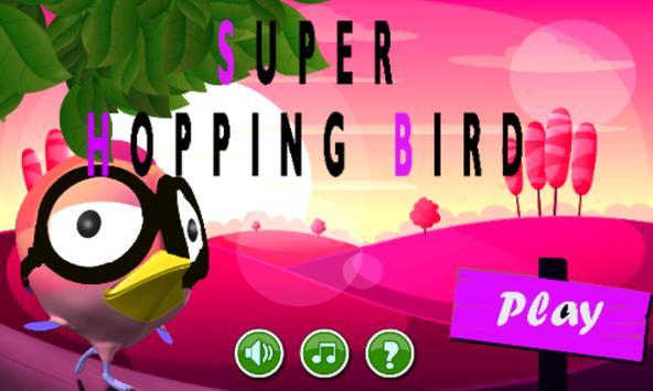 Super Pink Bird poster