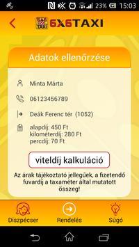 6x6 Taxi Rendelés screenshot 3