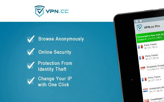VPN.cc - Anonymous Internet apk screenshot