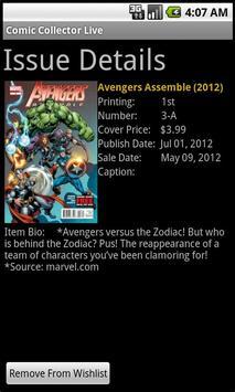 Comic Collector Live Free apk screenshot