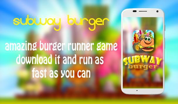 subway burger poster