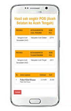 Cek Ongkos Kirim : Ongkir POS screenshot 3
